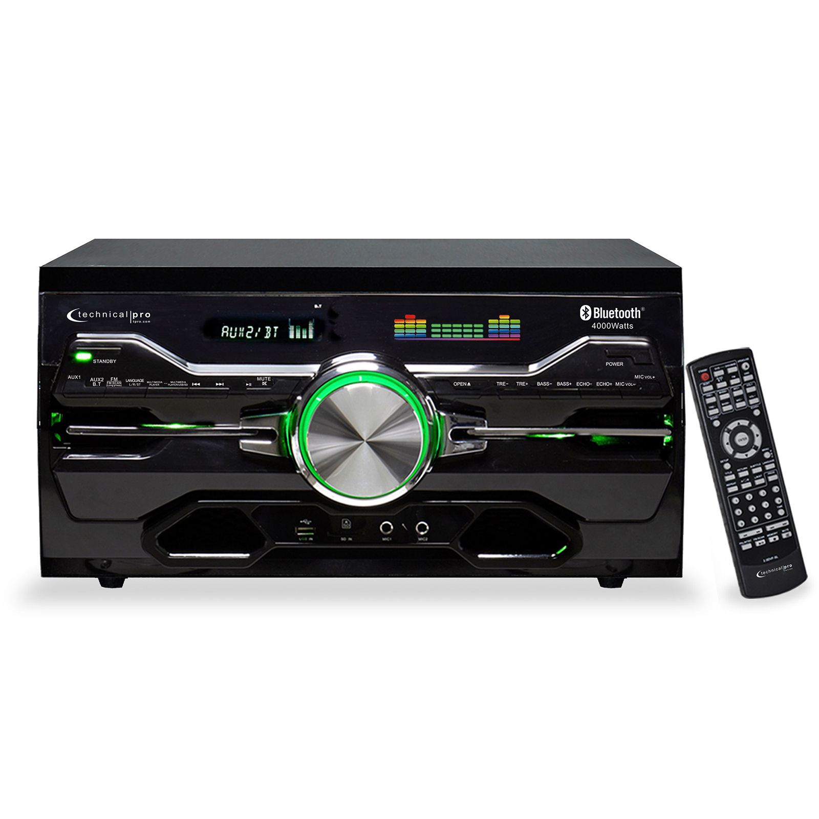Technical Pro Professional BT Receiver with Built-In DVD Player