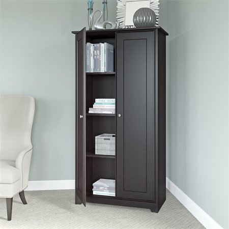 Bush Furniture Cabot Tall Storage Cabinet with Doors in Espresso Oak - image 3 of 7
