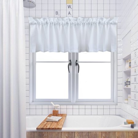 Curtain Valance Waffle Weave Water Repellent Window
