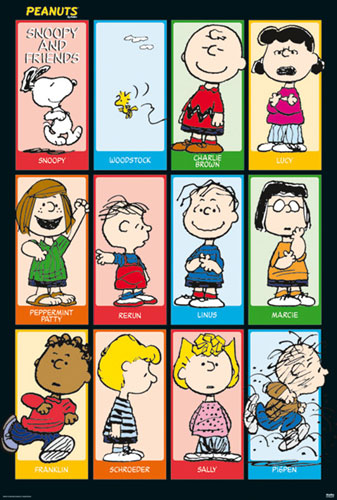 Peanuts - TV Show Poster / Print (All Characters / Grid ...