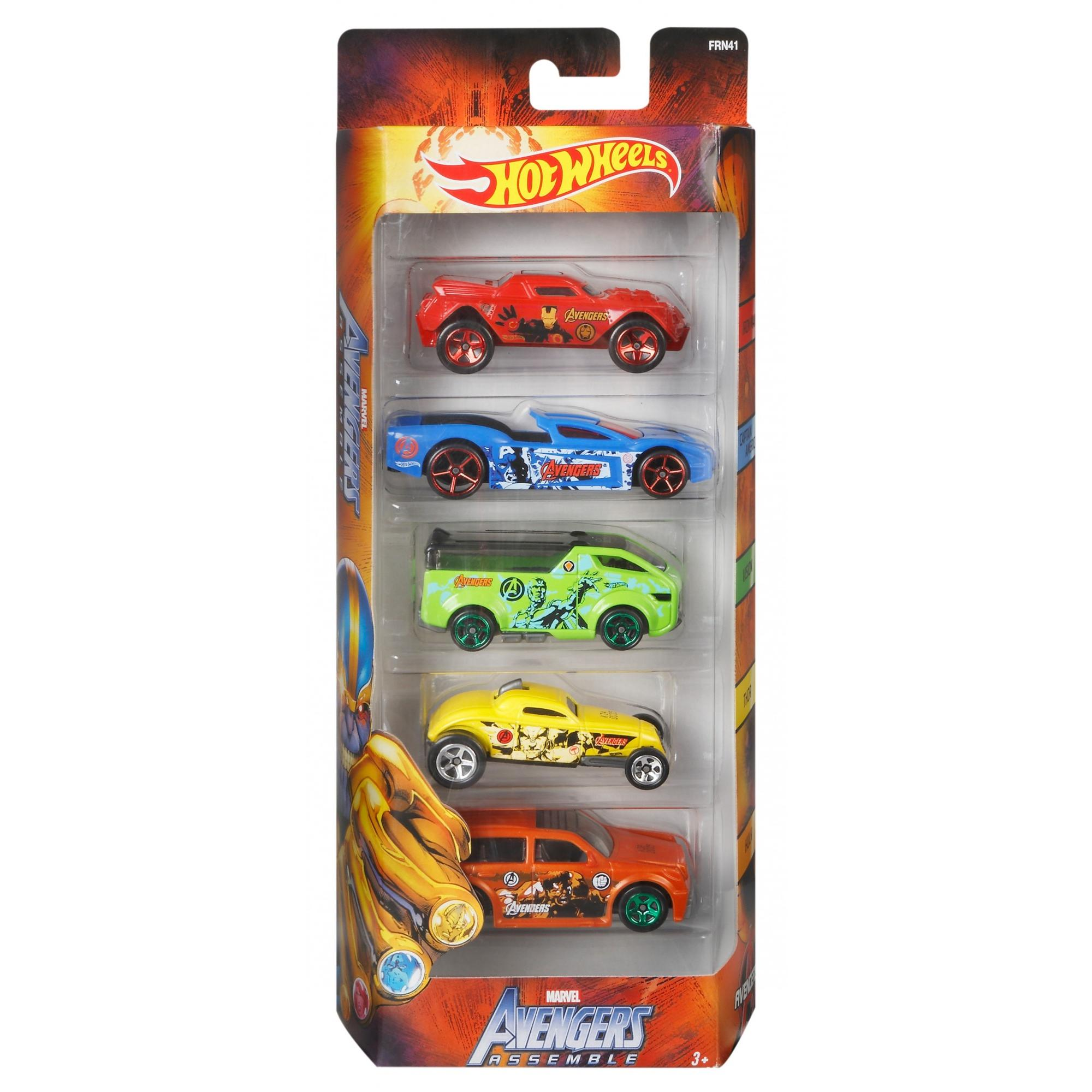 Hot Wheels Marvel Avengers Vehicle 5-Pack by Mattel
