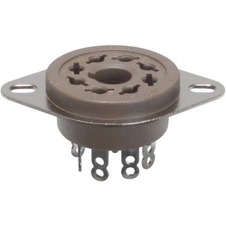 8-Pin Vacuum Tube Socket Belton Micalex Chassis Mount
