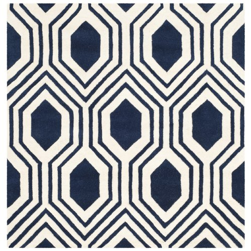 area rug sizes highland dunes aula tufted blue ivory area rug 29208