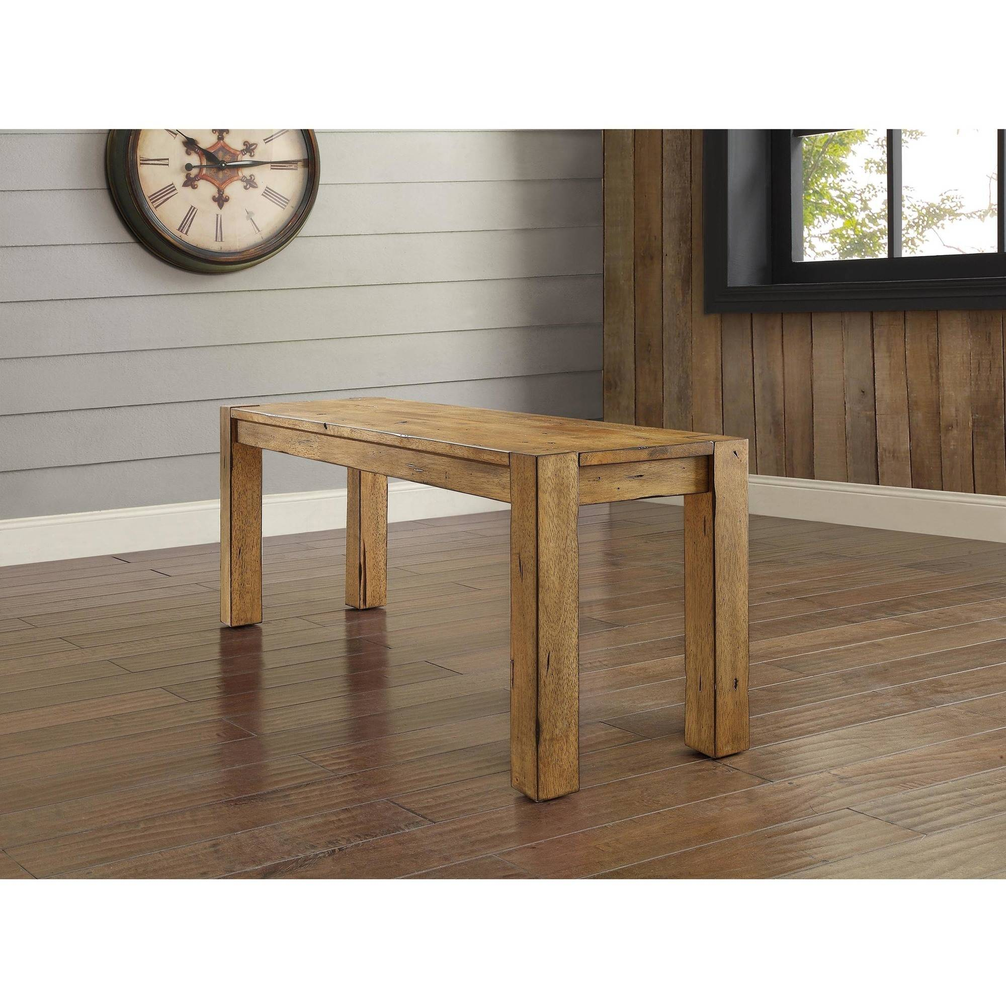 Better Homes and Gardens Bryant Dining Bench, Rustic Brown