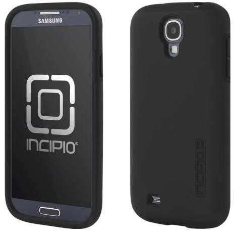 Incipio SA-375 DualPro Case for Samsung Galaxy S4 - 1 Pack - Retail Packaging - Obsidian Black/Obsidian  Black