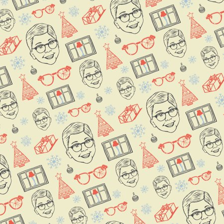 A Christmas story Pattern Premium Roll Gift Wrap Wrapping Paper ()