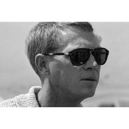 Steve McQueen profile in Persol sunglasses classic fashion 24x36 (Persol Steve Mcqueen 714 Sm Special Edition)