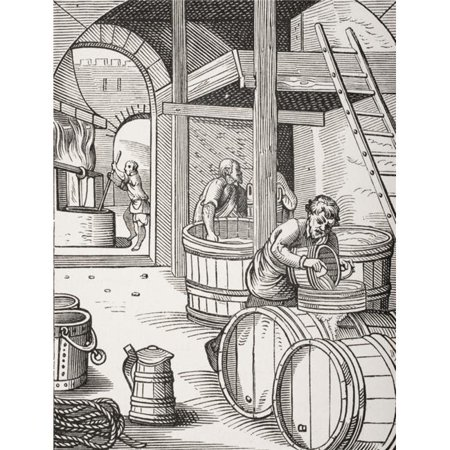 Posterazzi DPI1857904LARGE The Brewer 19th Century Copy of Picture Designed & Engraved in 16th Century by Jost Amman Poster Print, Large - 26 x 34 - image 1 de 1