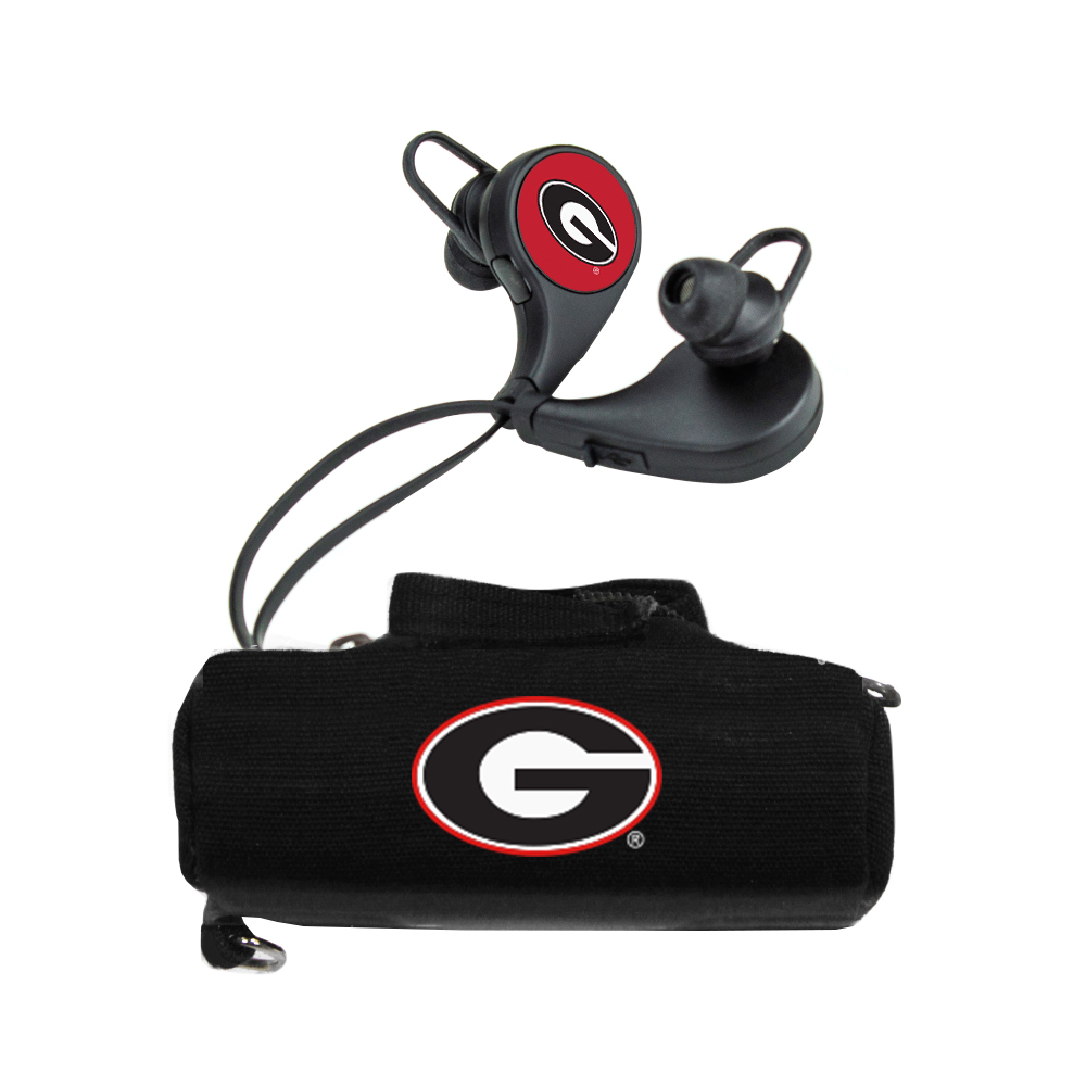 Georgia Bulldogs HX-300 Bluetooth Earbuds