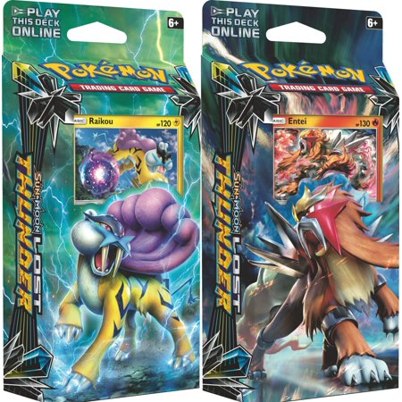 Pokemon Sun & Moon Lost Thunder - Both Theme Decks Raikou & Entei (120 Total - Pokemon Themed Wedding