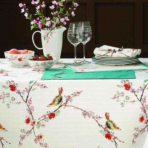 Lenox Chirp Microfiber Tablecloth 70 round