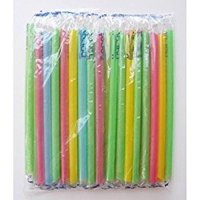 Large Milkshake Straws - Extra Wide Diameter - 35ct/Poly Bag. Cellophane Wrapped  Bright Colors Smoothie Iced Coffee Straws