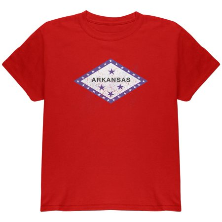 Born and Raised Arkansas State Flag Youth T Shirt