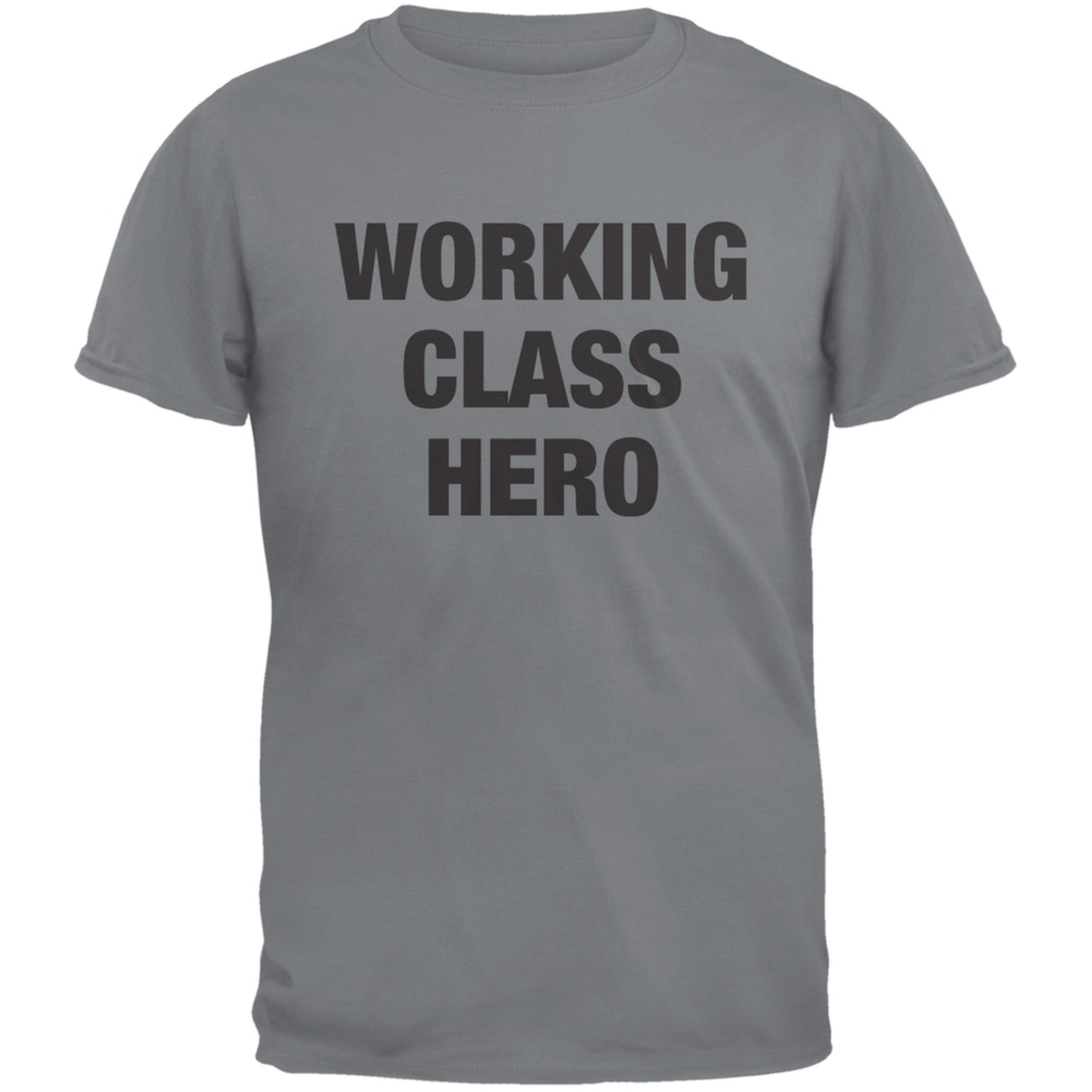Working Class Hero Inspired By John Lennon Storm Grey Adult T-Shirt