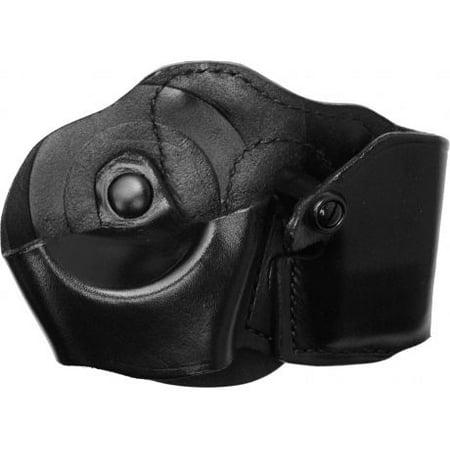 Gould & Goodrich B871 Cuff/Magazine Paddle Case, Black, Left Hand - For Glock 17