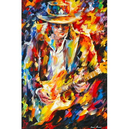 Stevie Ray Vaughan Print Wall Art By Leonid Afremov (Stevie X Factor Halloween)