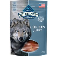 Blue Buffalo Wilderness Trail Treats Grain Free Chicken Jerky Dog Treats, 3.25-oz bag