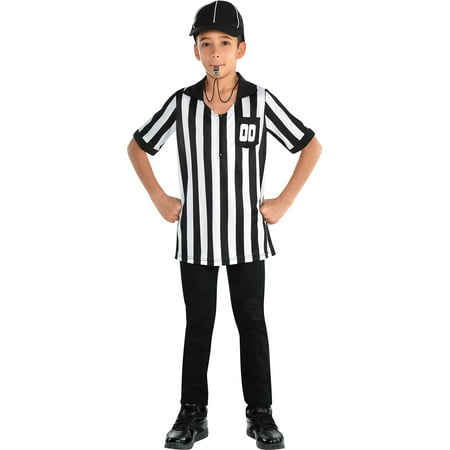 Child Referee Costume (Referee Halloween Costume Accessory Kit for Children, One)