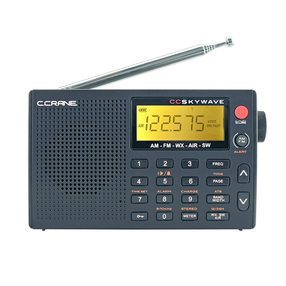 C. Crane CC Skywave AM, FM, Shortwave, NOAA Weather and Airband Portable Travel Radio by C.Crane