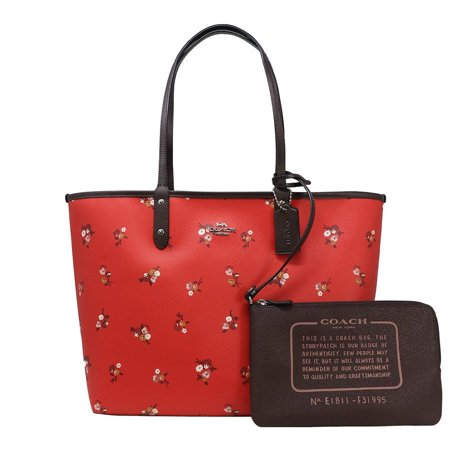 Coach Women's Rose Floral Print Reversible City Tote, Style F25870 ()
