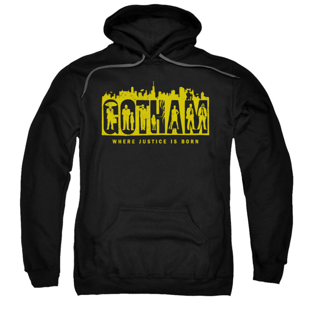 Gotham Men's  Silhouettes Hooded Sweatshirt Black