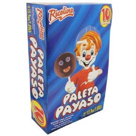 Marshmallow Lollipop with Chocolate and Gummies - Paleta Payaso (10 Pieces)