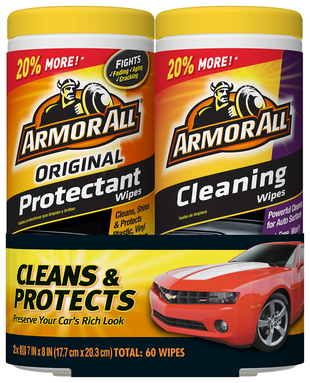 Armor All Original Protectant & Cleaning Wipes Twin Pack (2 x 30 count) by Armor All