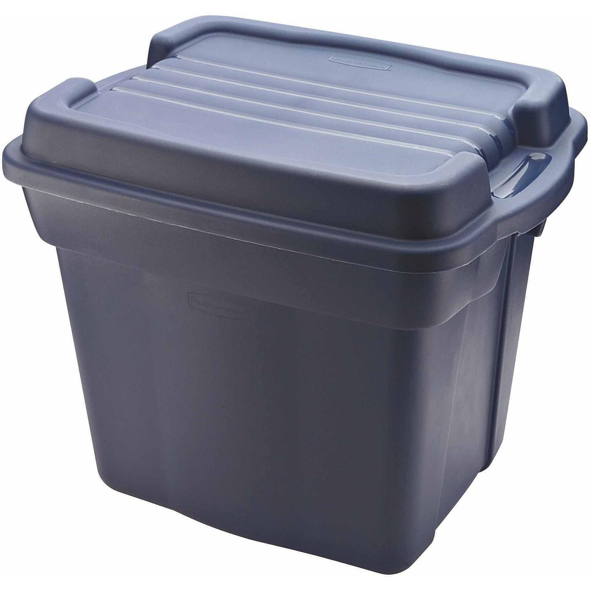 Rubbermaid Roughneck 24-Gallon Tote, Dark Indigo Metallic