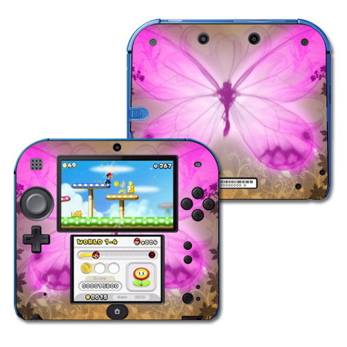 Skin Decal Wrap for Nintendo 2DS sticker Butterfly Love