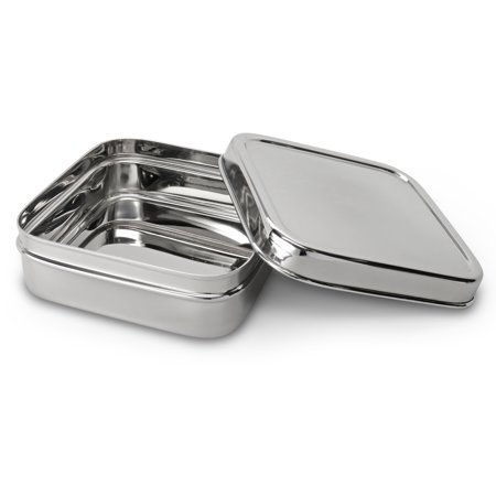 Lifestyle Block Eco-Friendly Stainless Steel Sandwich Container - Large - Compare to EcoLunchbox](Sandwich Platter Containers)