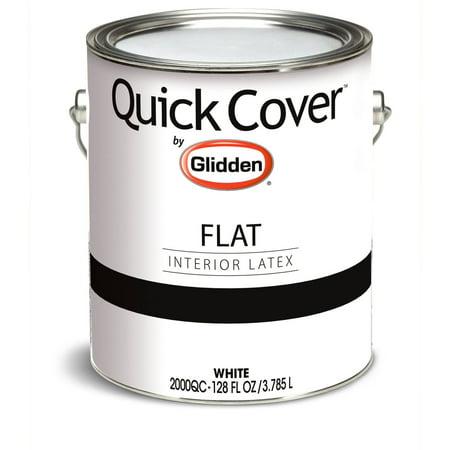 Glidden Quick Cover Interior Paint Flat Finish White 1 Gallon