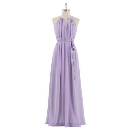 Ever-Pretty Women's Elegant Floor-Length Chiffon Halter Neck Bridal Party Dress Summer Vacation Sun Dresses for Women 07284