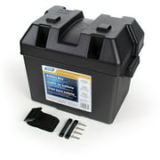 Camco RV Standard Battery Box, Black