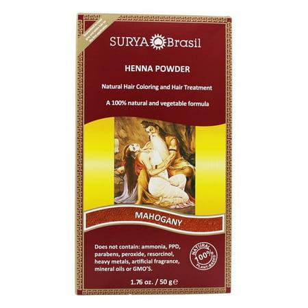 Surya Brasil - Henna Powder Natural Hair Coloring Mahogany - 1.76 oz.