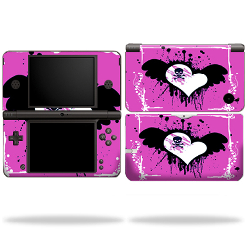 Mightyskins Protective Vinyl Skin Decal Cover for Nintendo DSi XL wrap sticker skins Poison Heart
