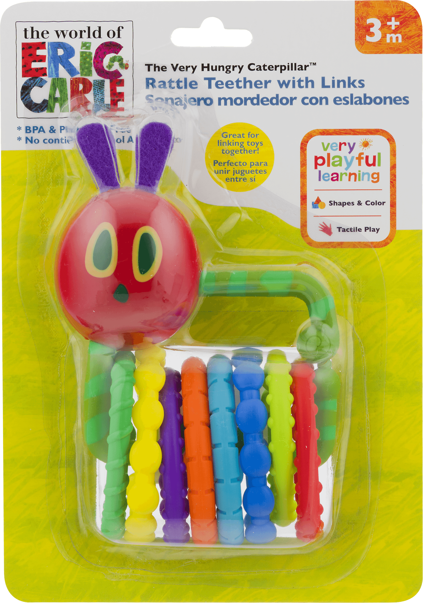 a50d3434a In The World Of Eric Carle The Very Hungry Caterpillar Rattle Teether With  Links 3+m, 1.0 CT - Walmart.com