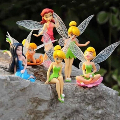 7pcs Tinkerbell Figures Fairy Princess Birthday Cake Toppers PVC Figurine Toy