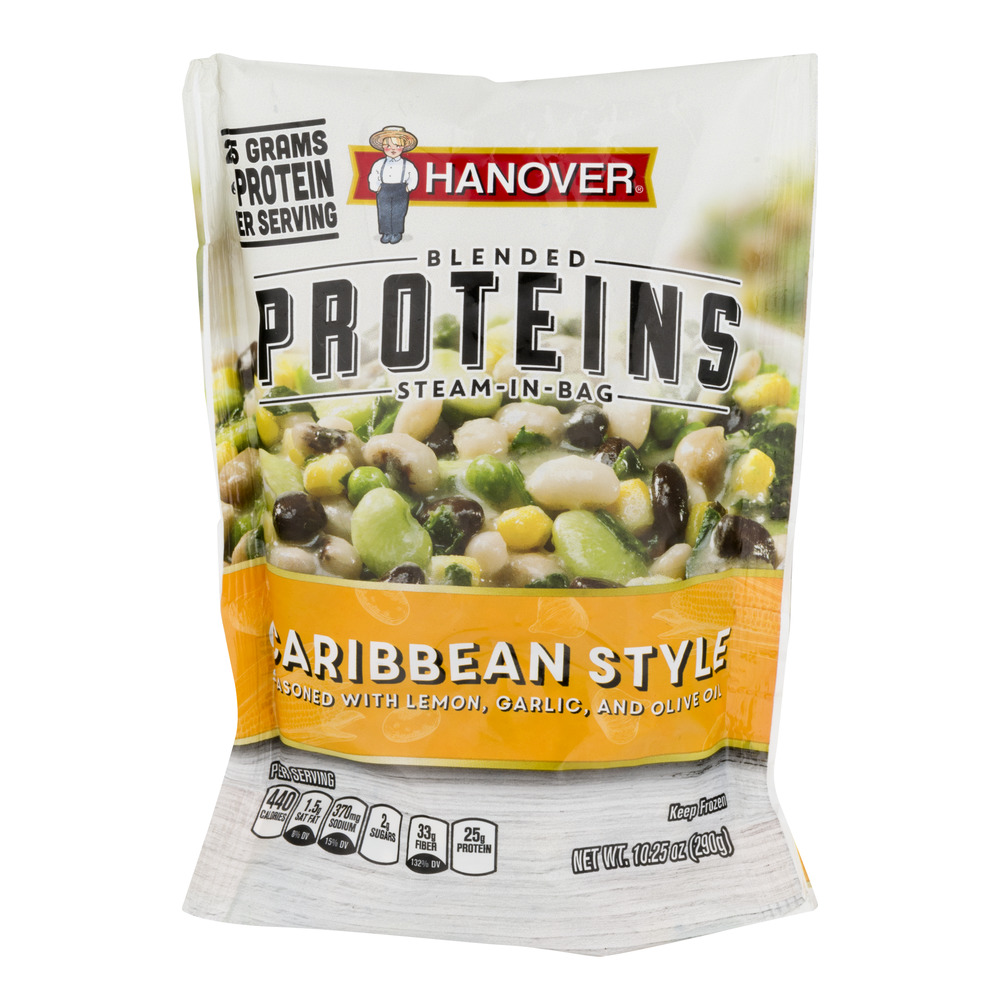 Hanover Blended Proteins Steam in Bag Caribbean Style, 10.25 oz