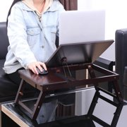 Ktaxon Bamboo Bed Tray Laptop Desk with Folding Legs