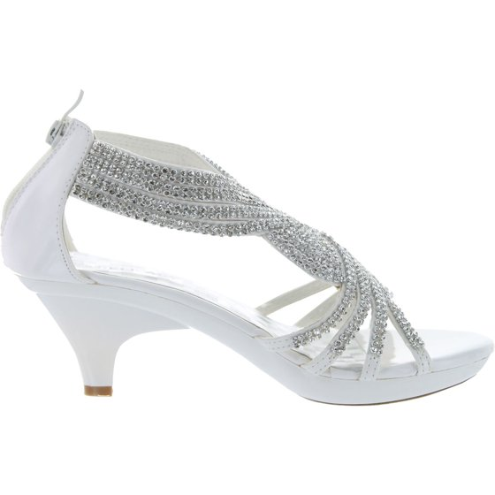 2a8220f34cff6 Static Footwear - Delicacy Womens Angel-37 Strappy Rhinestone Dress ...