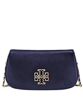 Tory Burch Britten Clutch Leather Crossbody Bag Tote