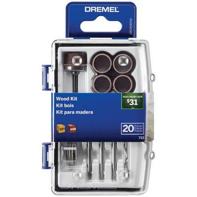 Dremel 733-02 20 Piece Count Wood Accessory Micro Kit