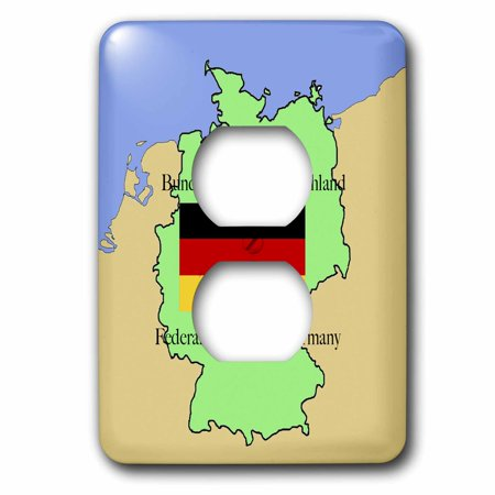 3dRose The map and flag of Germany with the Republic of Germany printe