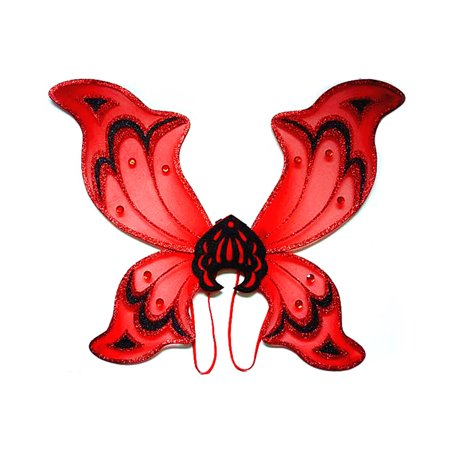 Mozlly Mozlly Glossy Red Devil Wings w/ Shoulder Strap Size: 18