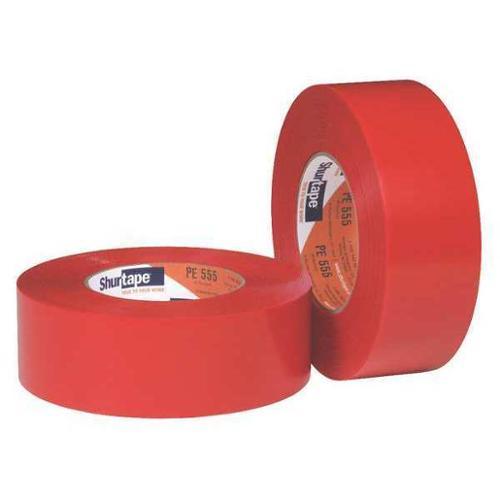 SHURTAPE PE 555 Film Tape, Red, 55m, Polyethylene, PK24