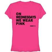 Mean Girls Juniors' On Wednesdays Hot Pink T-Shirt