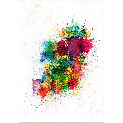 "Trademark Art ""Ireland Paint Splashes"" Canvas Art by Michael Tompsett"