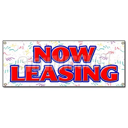 Now Leasing Banner Sign For Lease Rent Office Retail Space Apartment Apt
