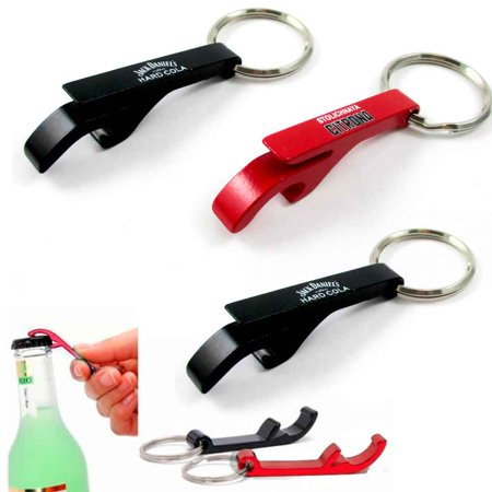 Beer Key Chain Bottle - 3x NEW Key Chain Aluminum Beer BOTTLE and CAN OPENER small beverage key ring