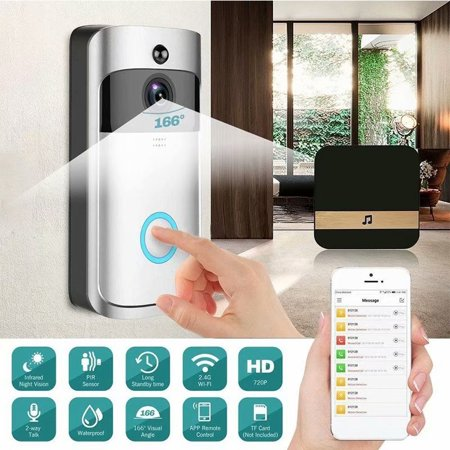 Wireless Wifi Doorbell Smart Video Phone Door Visual Ring Intercom Secure Camera Anti-theft Free Cloud Service Two-Way Talk Night Vision PIR Detection APP Control for IOS - Intercom Desktop